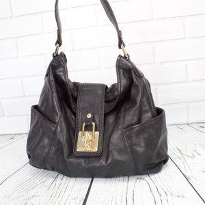 Michel Kors Large Black Leather Handbag Purse